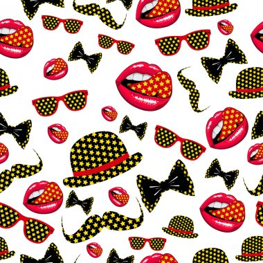 Vector hipster seamless pattern.
