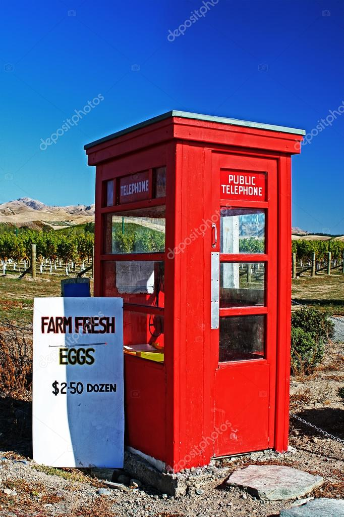 Old red phone box for sale nz   Red Phone Box — Stock Photo