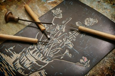 Chisels and linocut