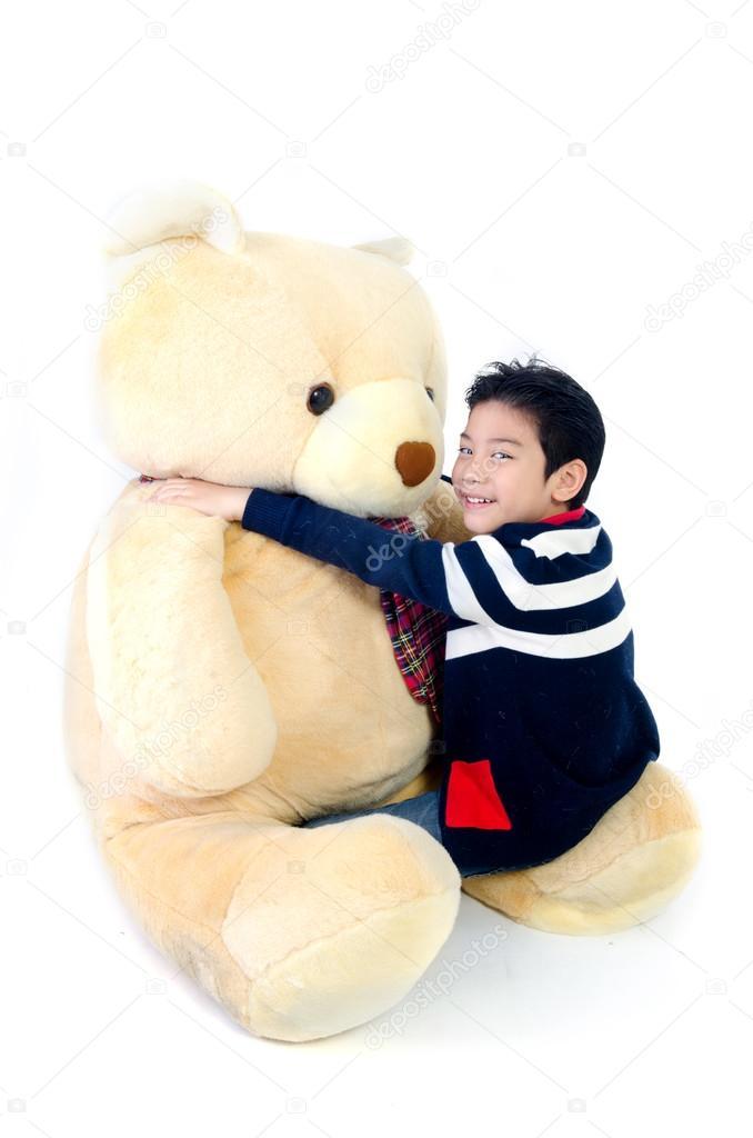 Asian boy with baby big bear doll stock photo sirikornt 38125605 asian boy with baby big bear doll photo by sirikornt publicscrutiny Gallery