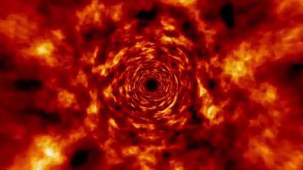 oheň tunel rotující vír proletět pozadí