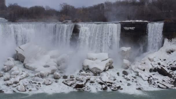 Niagarské vodopády american falls zpomalené 01, zavřete