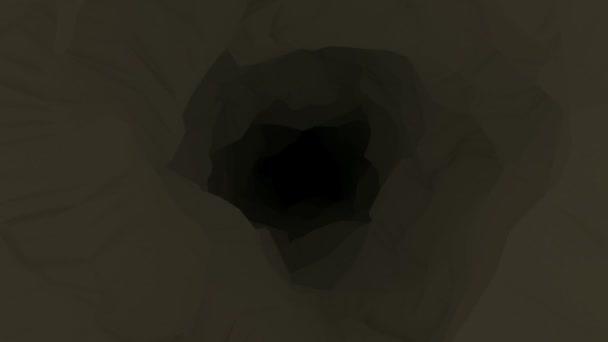 animovaný sestup do temné jeskyně důlní šachta bg