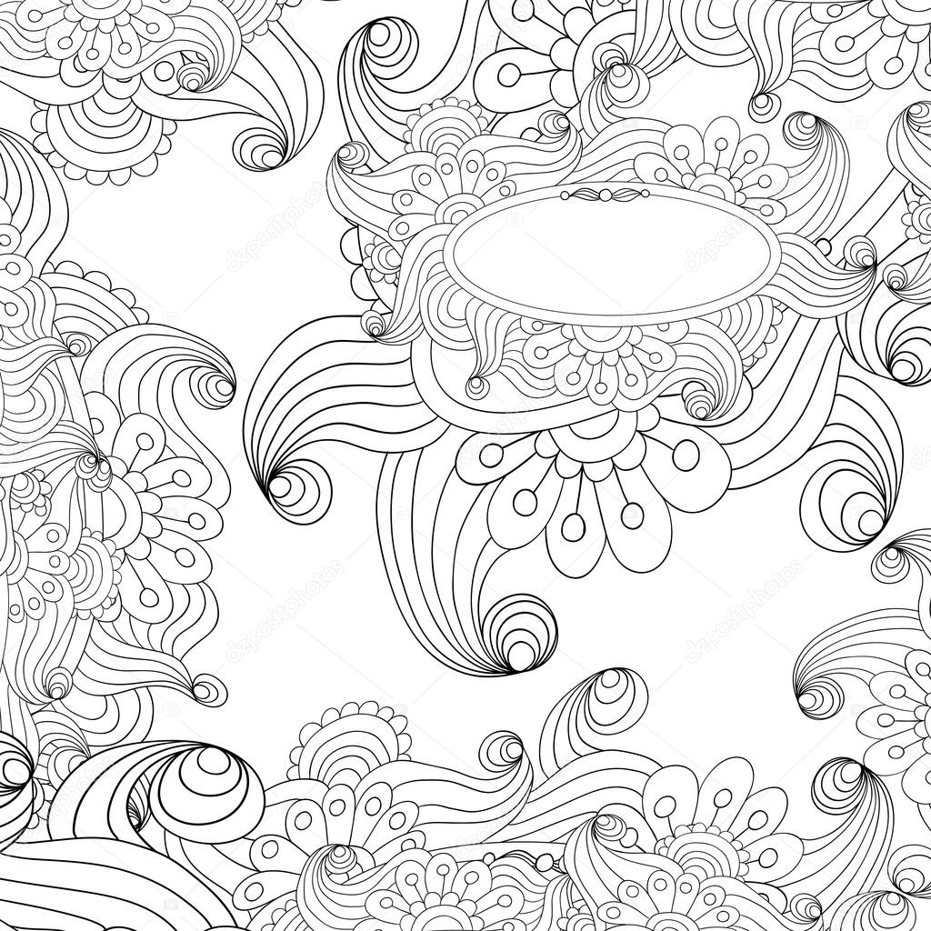 Vector abstract black and white background.