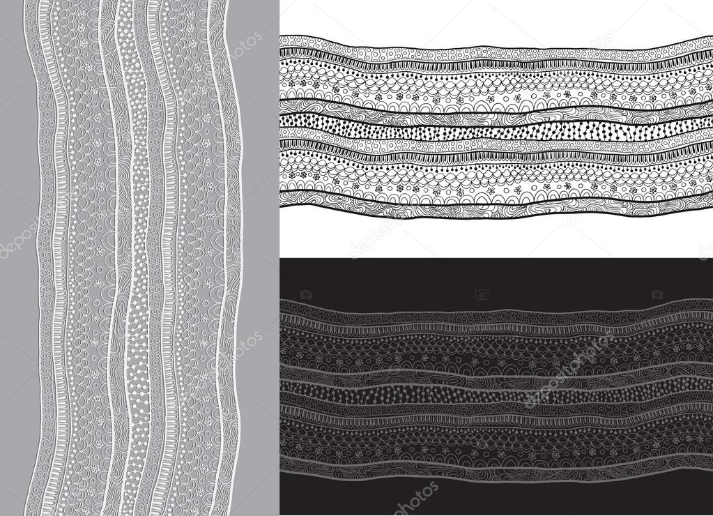 Abstract lace ribbon seamless pattern. Template frame design for card. Can be used for packaging, invitations, and template.