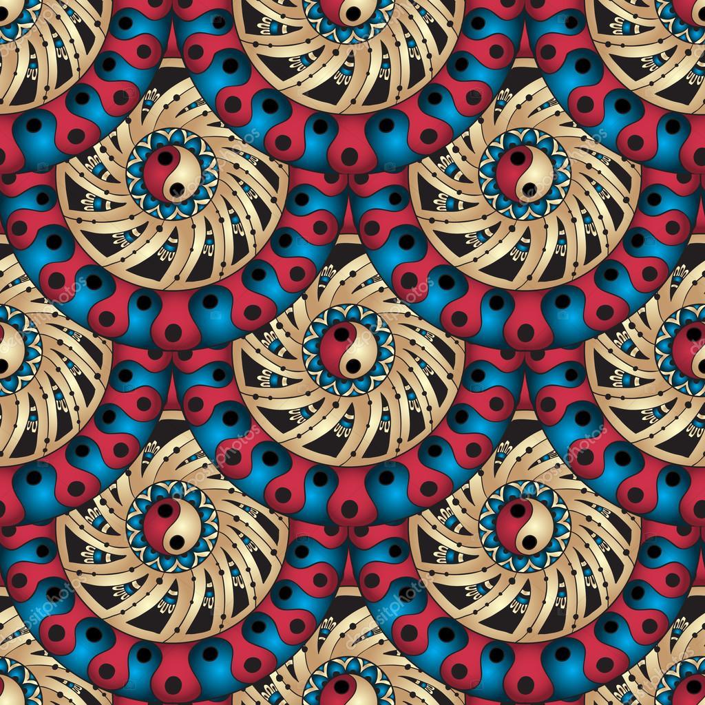 Seamless geometric pattern in