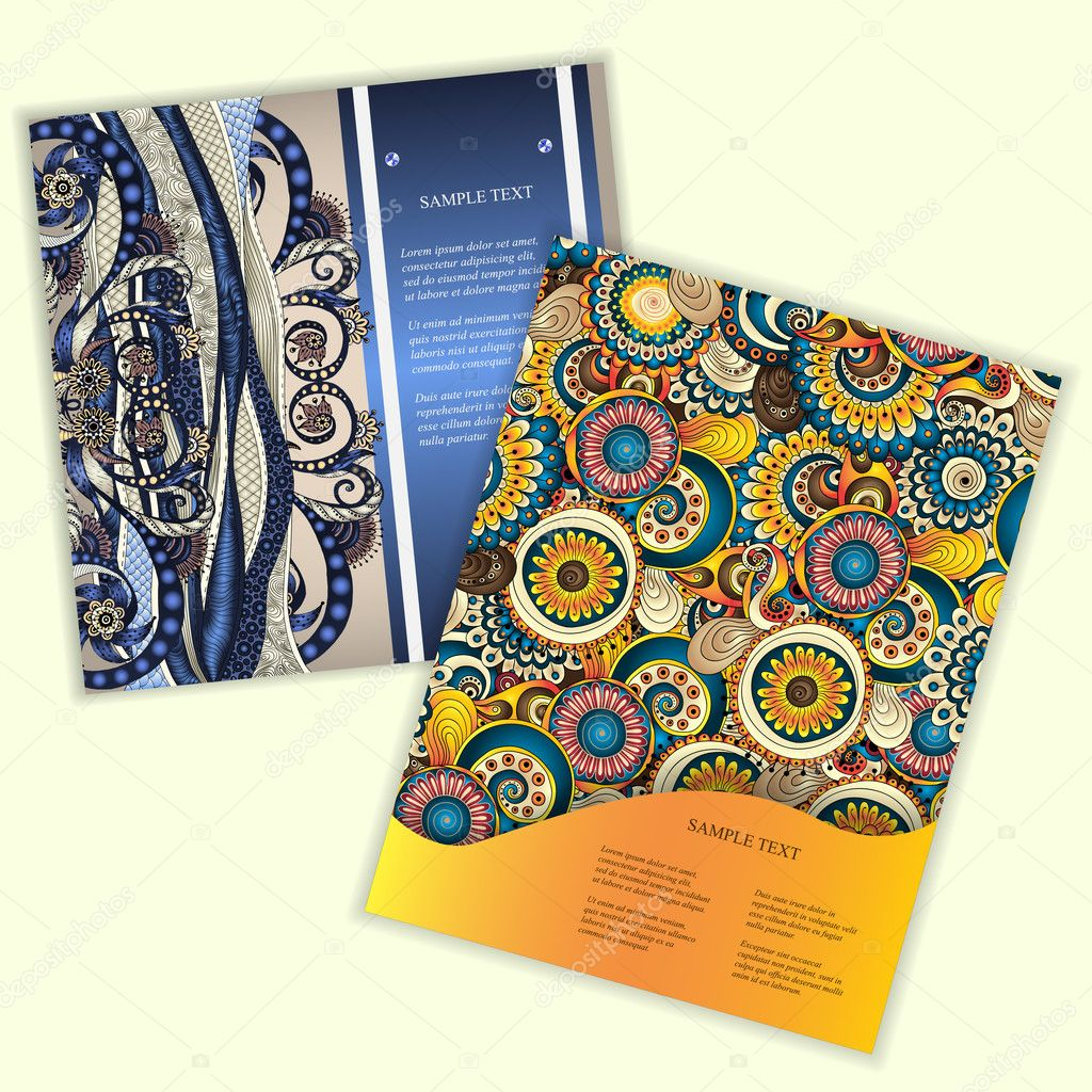 Unique Abstract Ethnic Pattern Card Set