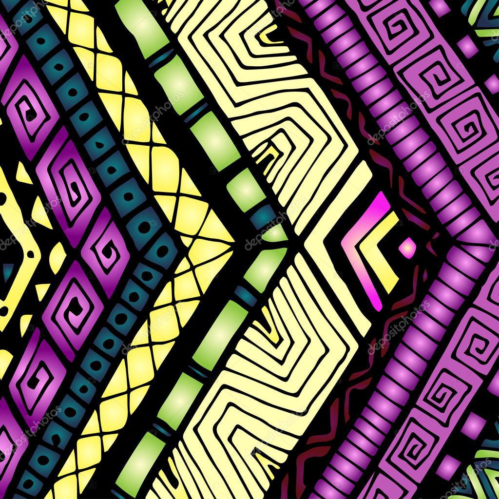 Ethnic background with geometric elements.
