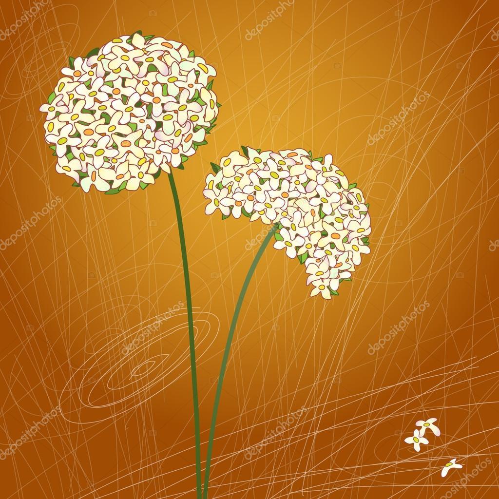 Retro floral background