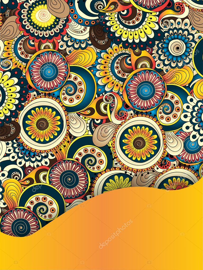 Unique Abstract Ethnic Pattern Card