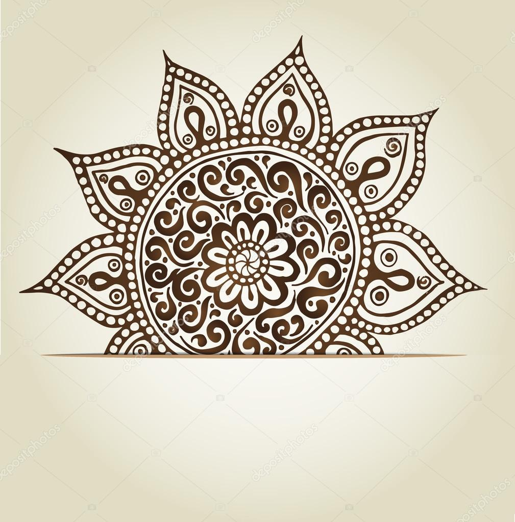 Mandala. Round Ornament Pattern.