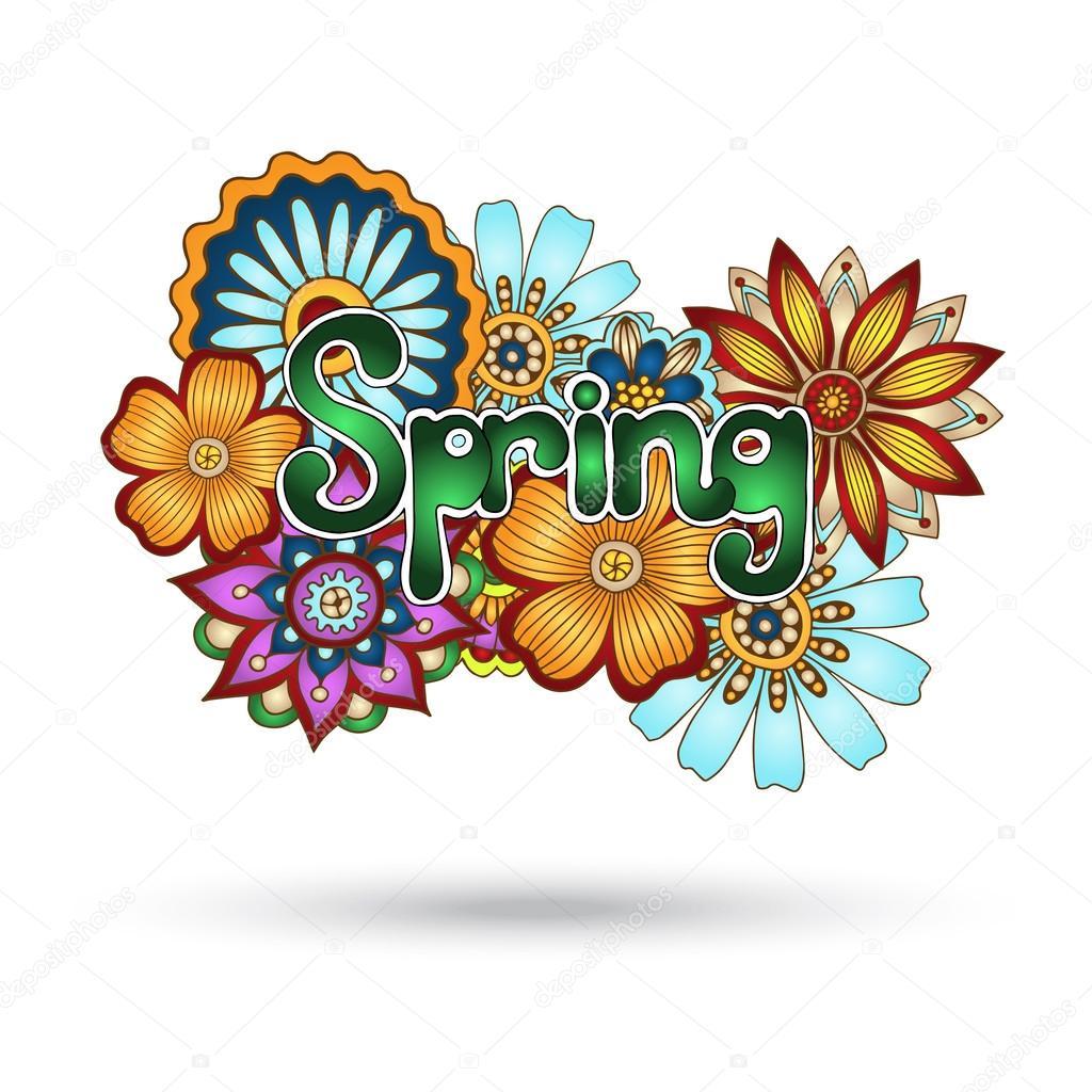 Henna Paisley Mehndi Floral Vector Element.