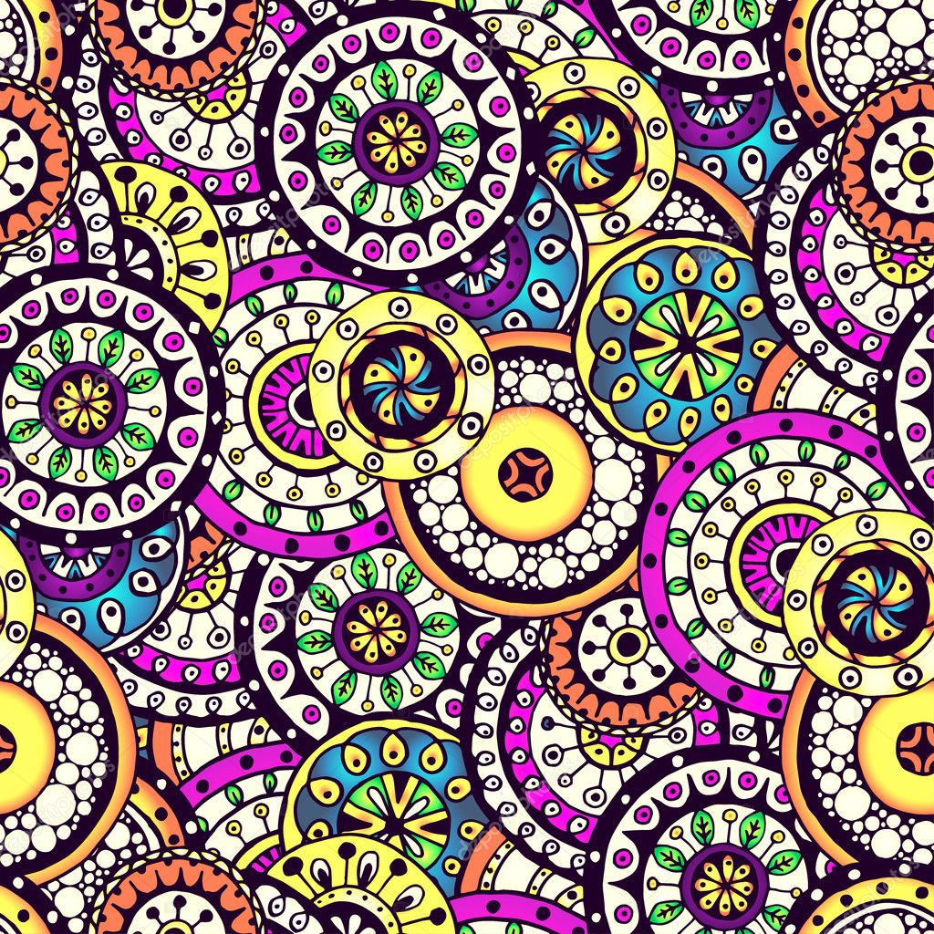 Seamless flower background pattern in vector.