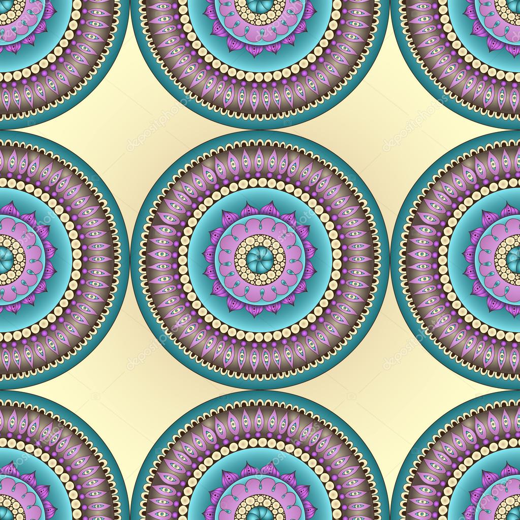 Seamless abstract doodle flower pattern in vector