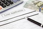 Půjčky žádost formulář a dolar bankovky