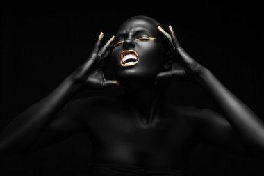 emotional portrait of a woman.
