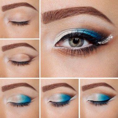 step by step make-up.