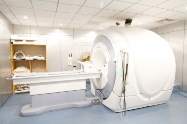 Emtpy room with MRI machine in hospital