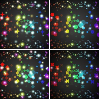 Abstract vector background. Creative dynamic element, lights and sparkles illustrations.