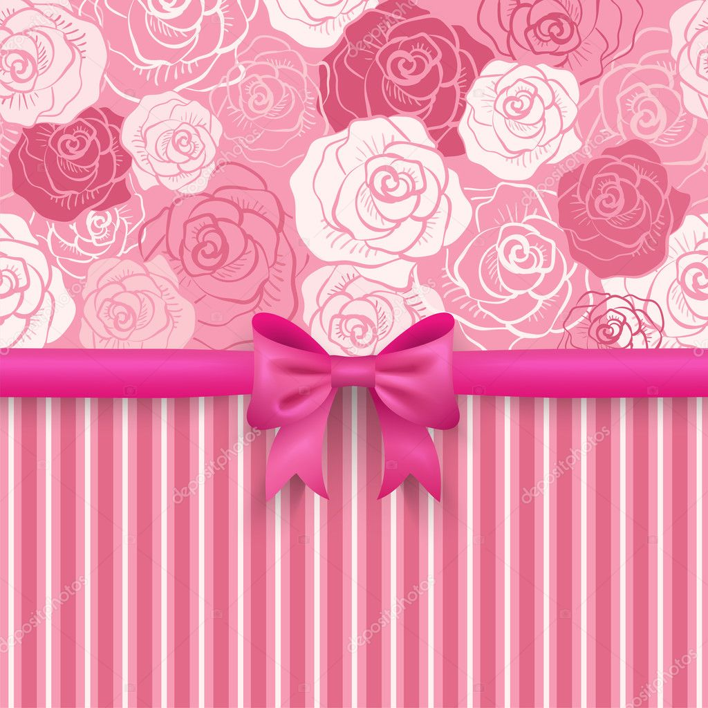 Romantic vector seamless background. Greeting card wallpaper