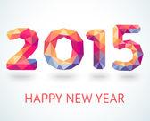 Fotografie Frohes neues Jahr 2015 bunten Grußkarte