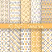 Fotografie Vintage different vector seamless patterns (tiling)