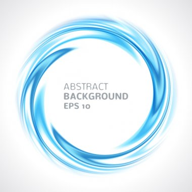 Abstract blue swirl circle bright background