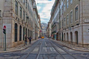 Lisbon, Portugal. Classical view. Typical architecture of the city streets