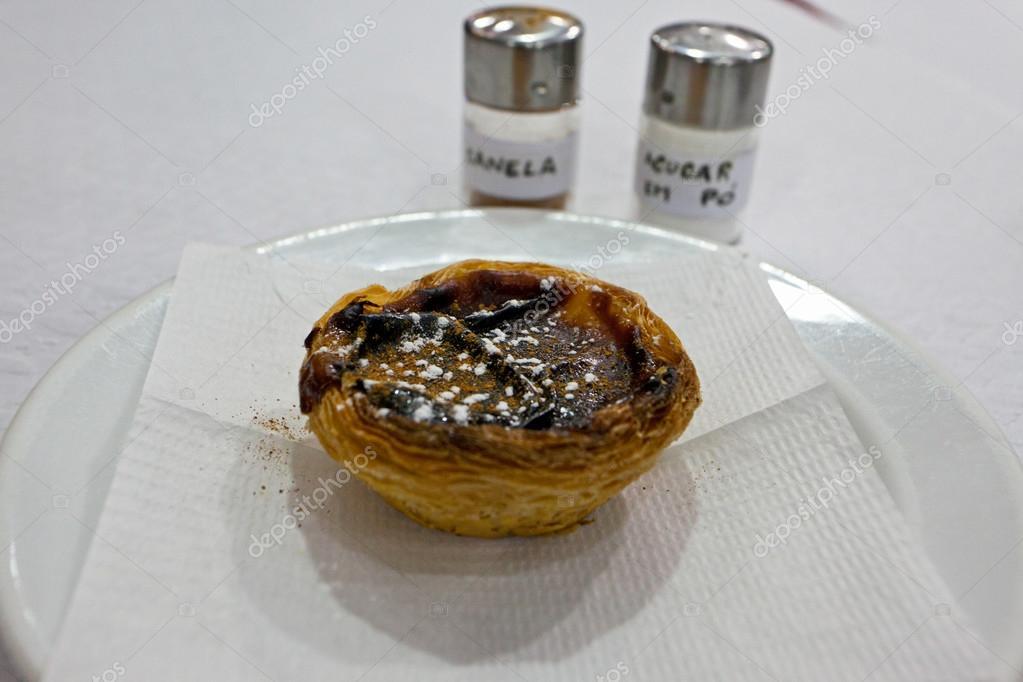 Traditionelle Portugiesische Kuchen Pasteis De Nata Stockfoto