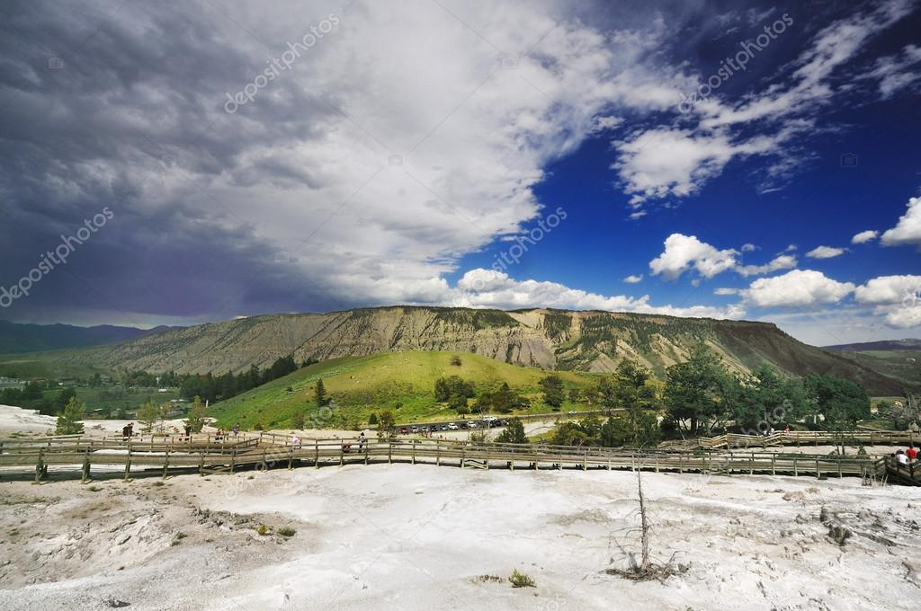 The Mountain at Mammoth Hot Springs