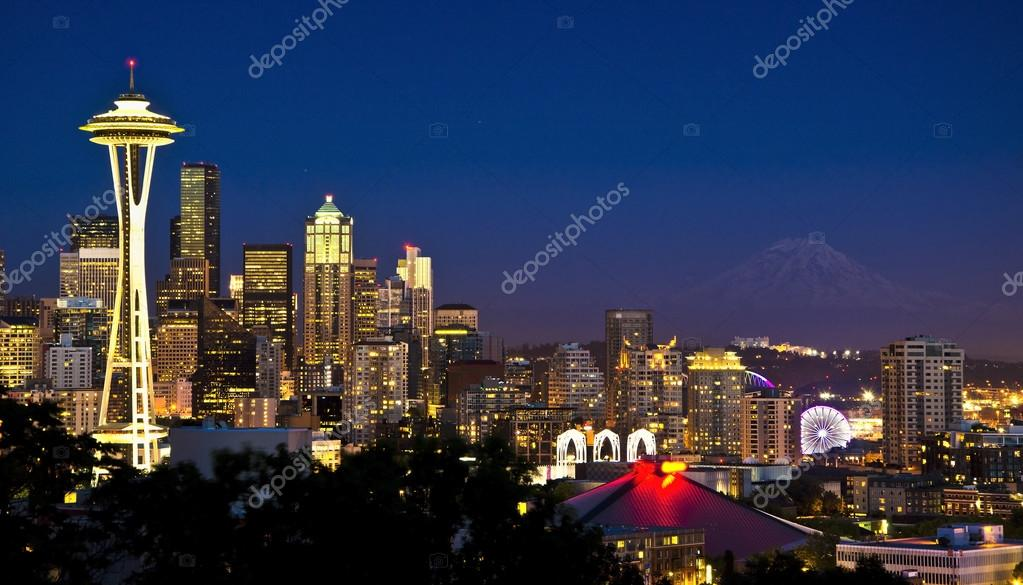 Beautiful seattle view from kerry park