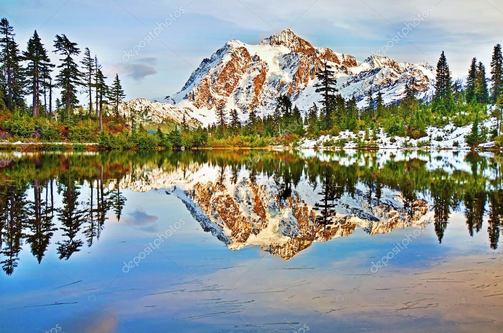 Mt Shuksan In picture lake