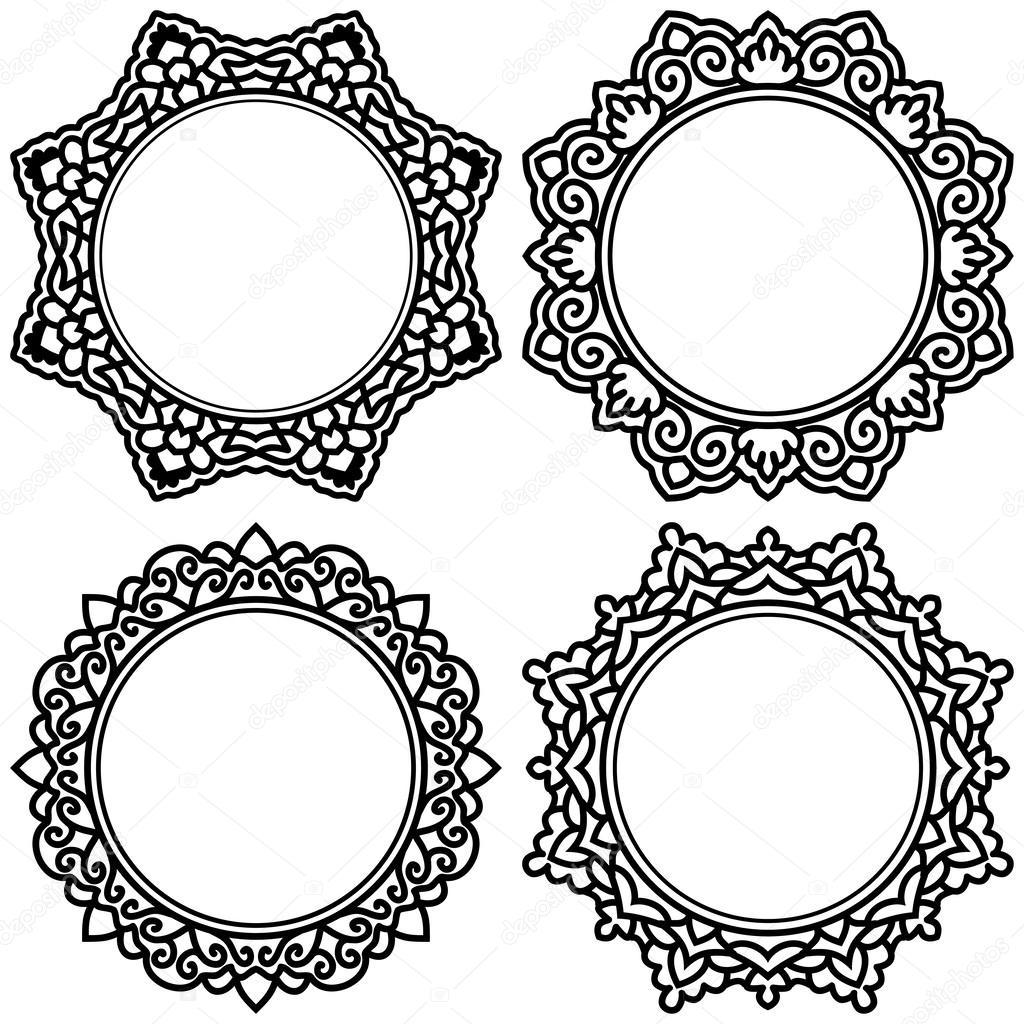 conjunto de círculo Marcos Recargado para el diseño — Vector de ...