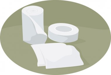 Dressing materials in a clinic