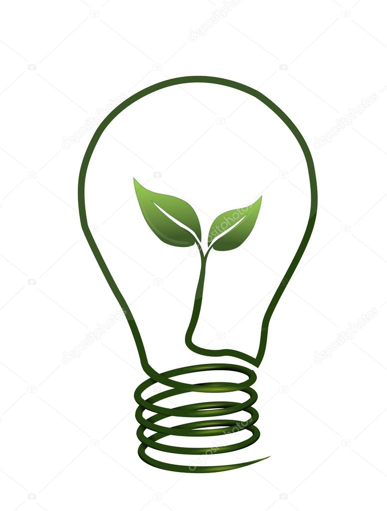 Light Bulb with Leaf Inside