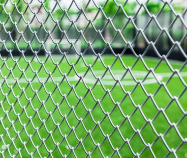 Metal mesh with soccer court