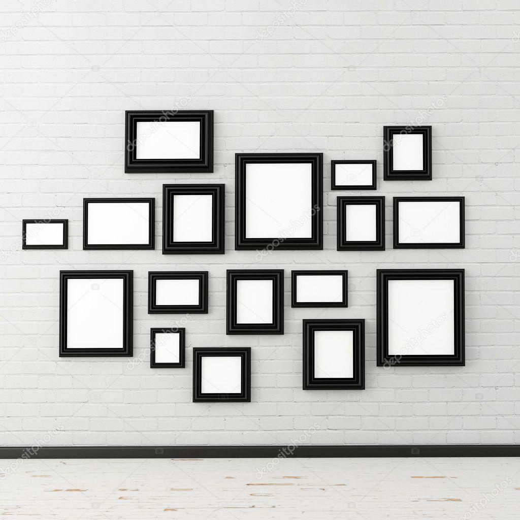 Bilderrahmen auf weiße Wand — Stockfoto © dejongjet303 #33346415