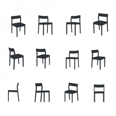 Chair icons stock vector