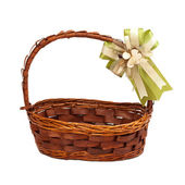 Basket with gift bow
