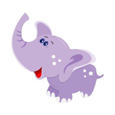 Vector baby elephant