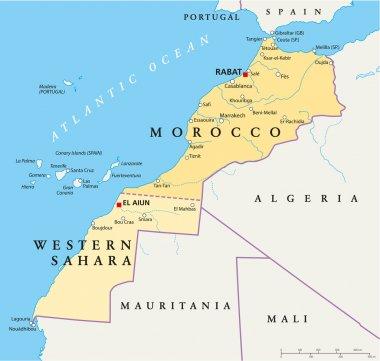 Morocco And Western Sahara Map
