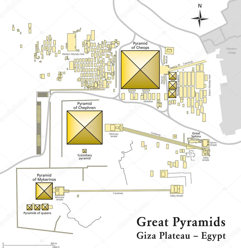 Pyramids In Egypt Map.Pyramids Of Giza Map Stock Vector C Furian 29121807