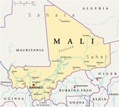 Fotografie Mali Political Map