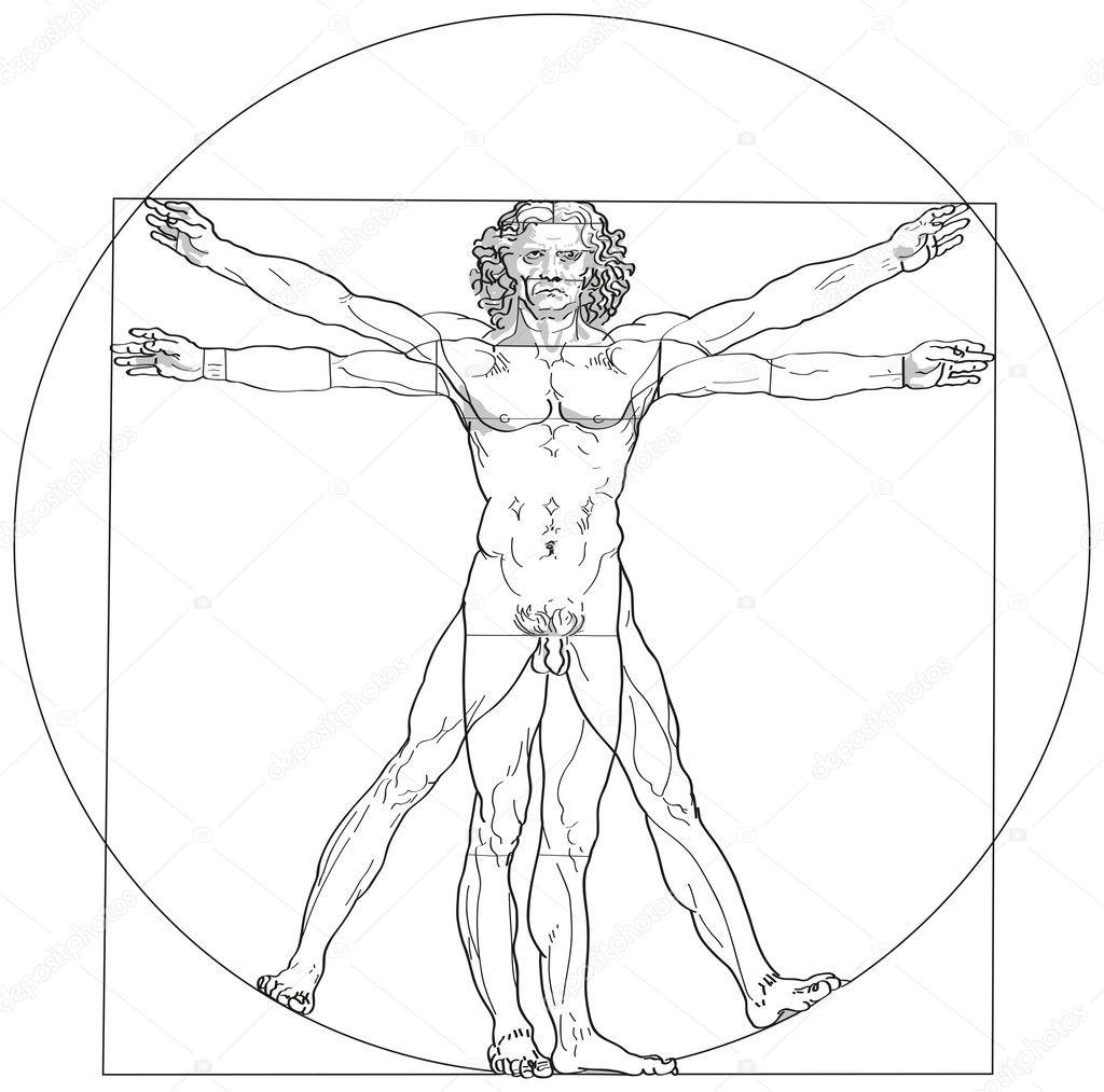 человек витрувианский фото