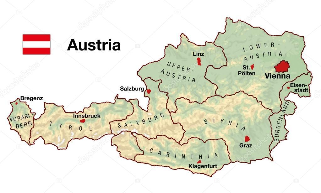 austria térkép Ausztria Térkép — Stock Fotó © Furian #31778515 austria térkép
