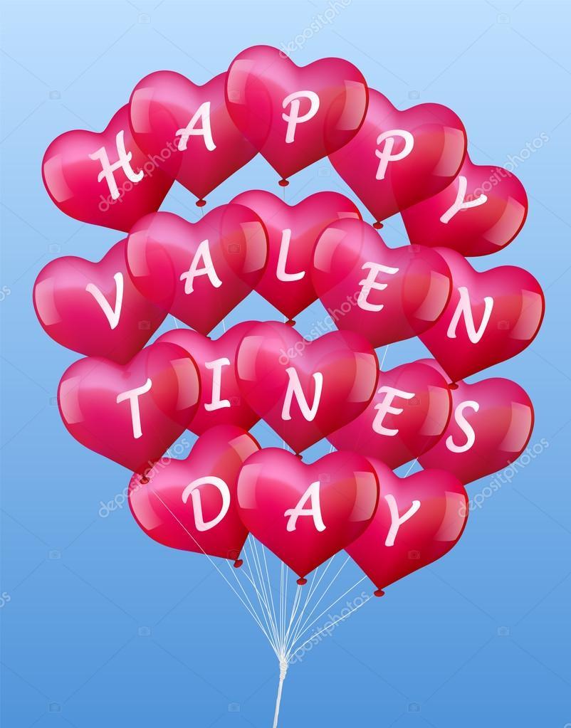 Ballons Valentinstag — Stockvektor © Furian #38727229