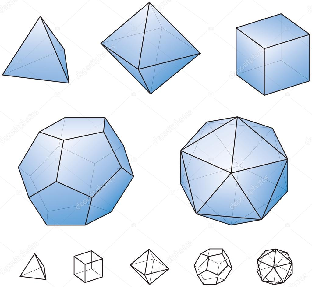 Platonic Solids Stock Vectors Royalty Free Platonic Solids