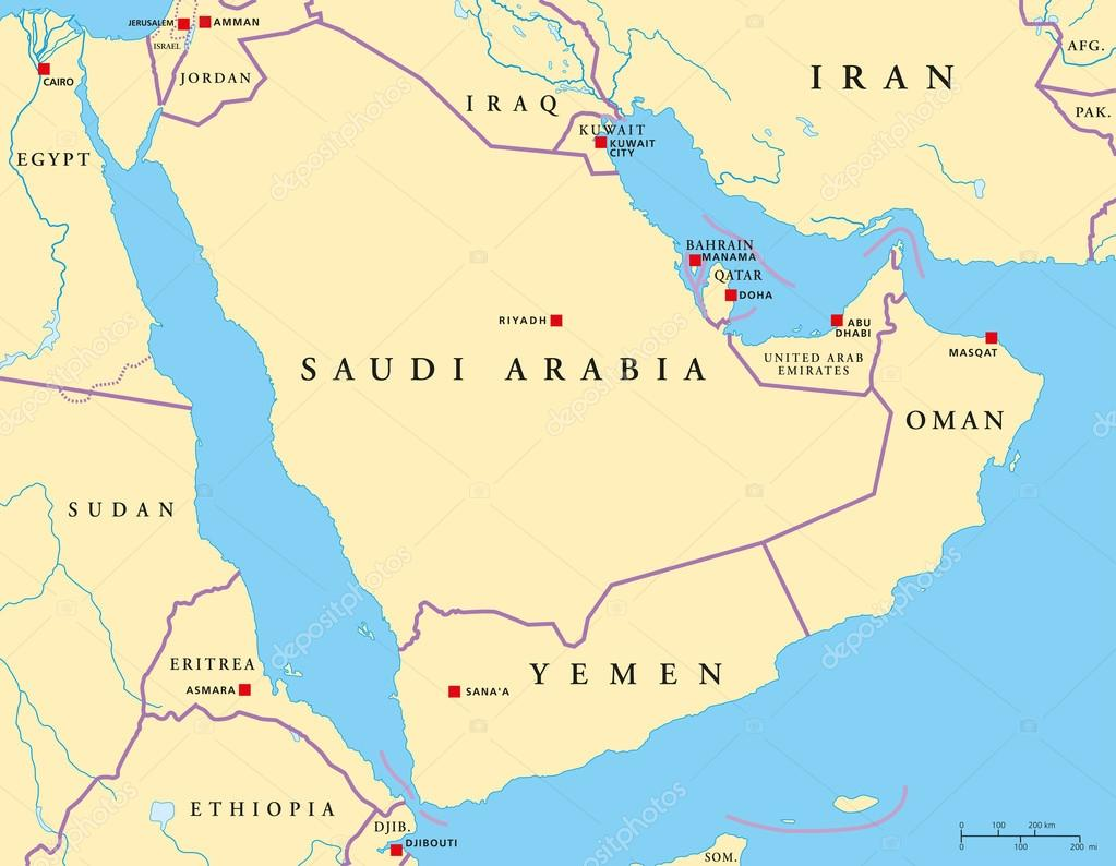 Картинки по запросу Бахрейн на Аравийском полуострове карта