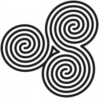 Celtic Double Spirals LabyrinthDruck