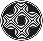 Photo Connected Celtic Double Spirals